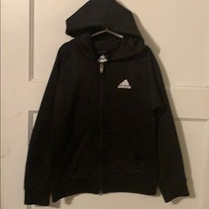 Boys Adidas hooded zip up sweatshirt size Sm 8